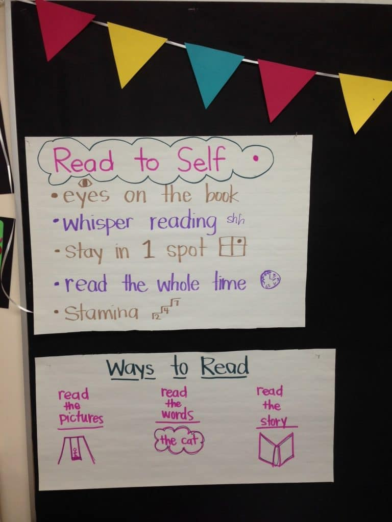 "Co-constructed Chart for ""Read to Self"" Center"
