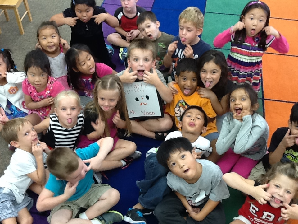 Ms. Sloan's Card - Silly Faces