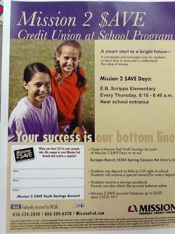 Mission Federal Credit Union Flyer