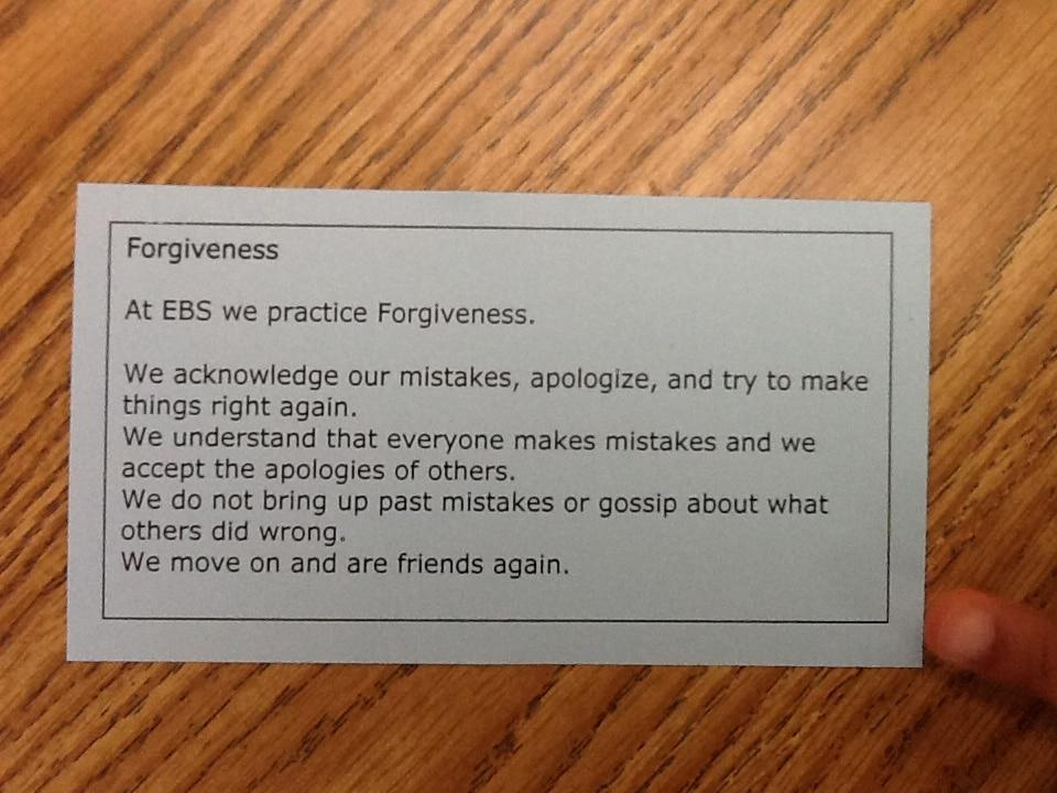 Character Ed. - Forgiveness